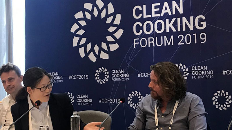 Chinese Entrepreneur Xia Li Present Important Speech as the only Female Speaker at the Clean Cooking Forum in Kenya