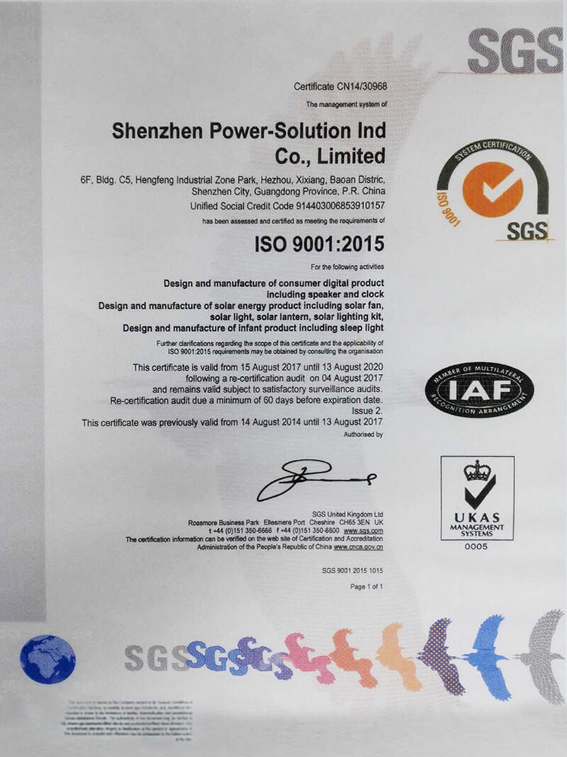 ISO 9001-2015 - SGS